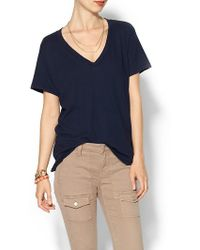 Current/Elliott The Vneck Tshirt - Lyst