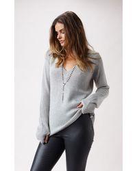 One Teaspoon Snug Knit Vneck Sweater - Lyst