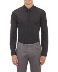 Balenciaga Twisted Placket Shirt - Lyst