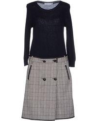 See By Chloé Knee-Length Dress blue - Lyst