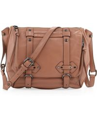 Kooba Erin Leather Strap Messenger Bag Earth - Lyst