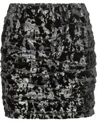 Maje Daina Camouflagejacquard Mini Skirt - Lyst