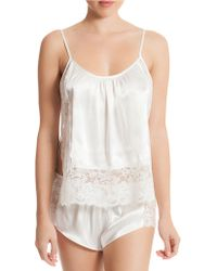 In Bloom - The Bride Satin Cami And Shorts Set - Lyst