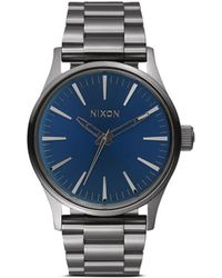 Nixon 'The Sentry 38 Ss' Watch blue - Lyst
