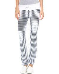 Wildfox Malibu Stripe Skinny Sweats  Sailor Stripe - Lyst