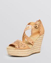 Aerin - Open Toe Platform Wedge Espadrille Sandals - Laila - Lyst