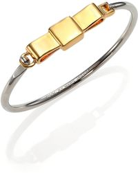 Marc By Marc Jacobs Medium Bow Tie Bangle Bracelet - Lyst