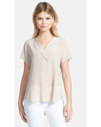 Trouvé Asymmetrical Silk Top - Lyst
