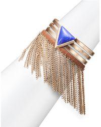 Lord & Taylor - Fringed Triangle Cuff Bracelet - Lyst