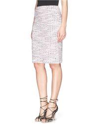 St. John Wool Blend Bouclé Tweed Pencil Skirt - Lyst