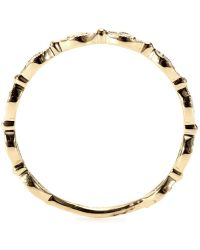 Stone - 18kt Yellow Gold Yasmine Ring With White Diamonds - Lyst