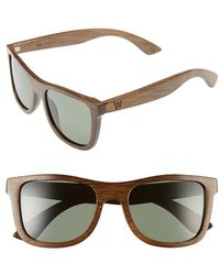 Woodzee - 'milano' 52mm Polarized Sunglasses - Bamboo Brown/ Green - Lyst