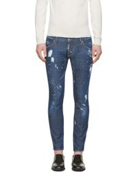 DSquared2 Blue Distressed Clement Jeans - Lyst