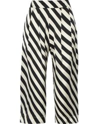 Adriana Degreas | Surf Club Cropped Striped Silk-satin Pants | Lyst