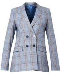 Richard Nicoll - Checked Double-Breasted Blazer - Lyst
