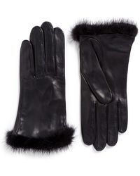 Georges Morand - Mink Fur Trim Lamb Leather Gloves - Lyst