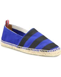 Castaner Blue Striped Espadrilles - Lyst