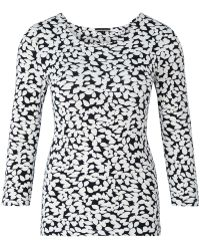 Austin Reed - Leaf Print Jersey Top - Lyst