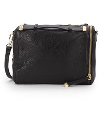 Halston Heritage Convertible Textured Leather Shoulder Bag - Lyst