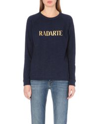 Rodarte Radarte Jersey Sweatshirt - Lyst