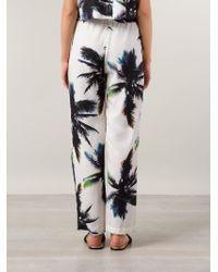 Sam & Lavi - Palm Print High Waist Trousers - Lyst