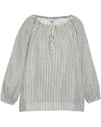 Sea High-Back Striped Cotton Peasant Top - Lyst