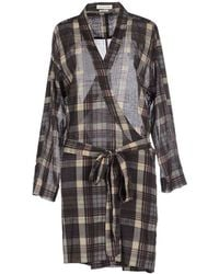 Etoile Isabel Marant Vanessa Checked Cotton Dress gray - Lyst