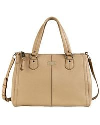 Cole Haan Leather Double Zip Satchel - Lyst
