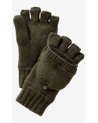 Express - Wool Blend Convertible Marled Gloves - Lyst