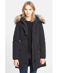 Moncler 'Arriette' Down Insulated Parka With Genuine Fox Fur Ruff black - Lyst