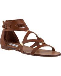 Steve Madden Comma Gladiator Sandal Cognac brown - Lyst