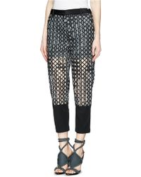 3.1 Phillip Lim Caning Embroidery Silk Trim Organza Pants - Lyst