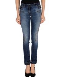 Dolce & Gabbana Blue Denim Trousers - Lyst