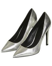 Topshop Gemini Metallic Court Shoes - Lyst