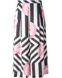Gaëlle Bonheur - Banana Print Striped Skirt - Lyst