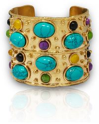 Sylvia Toledano Small Turquoise Byzance Cuff multicolor - Lyst