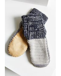 Urban Outfitters - Mixed Stitch Knit Slipper Sock - Lyst