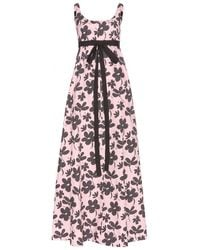 Marni Printed Cotton Maxi Dress - Lyst