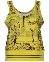 John Galliano Top - Lyst