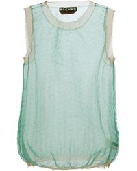 Rochas Sheer Vest Top - Lyst