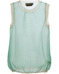 Rochas Sheer Vest Top - Lyst