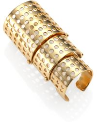 Kelly Wearstler Bastion Perforated Shield Ring - Lyst