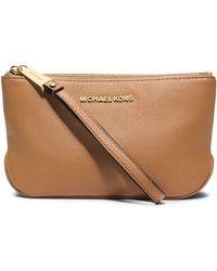 MICHAEL Michael Kors Large Leather Wristlet - Lyst