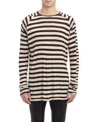 Haider Ackermann Stripe Long-Sleeve T-Shirt - Lyst