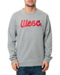 Wesc The Flow Script Crewneck Sweatshirt - Lyst