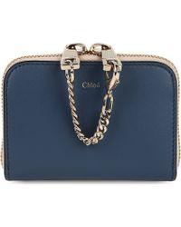 Chloé Baylee Mini Wallet Street Blue Navy - Lyst