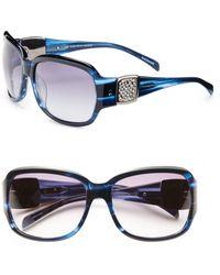 Saks Fifth Avenue - Dina Round Rhinestone-detail Plastic Sunglasses - Lyst