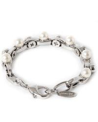 Joomi Lim Double Row Chain Pearl Bracelet