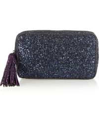 Anya Hindmarch Twinkle Glitterfinished Clutch - Lyst