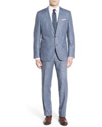 BOSS | Trim Fit Check Stretch Suit | Lyst
